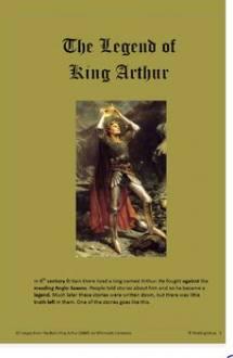 King Arthur, The Legend of King Arthur, WebEnglish.se