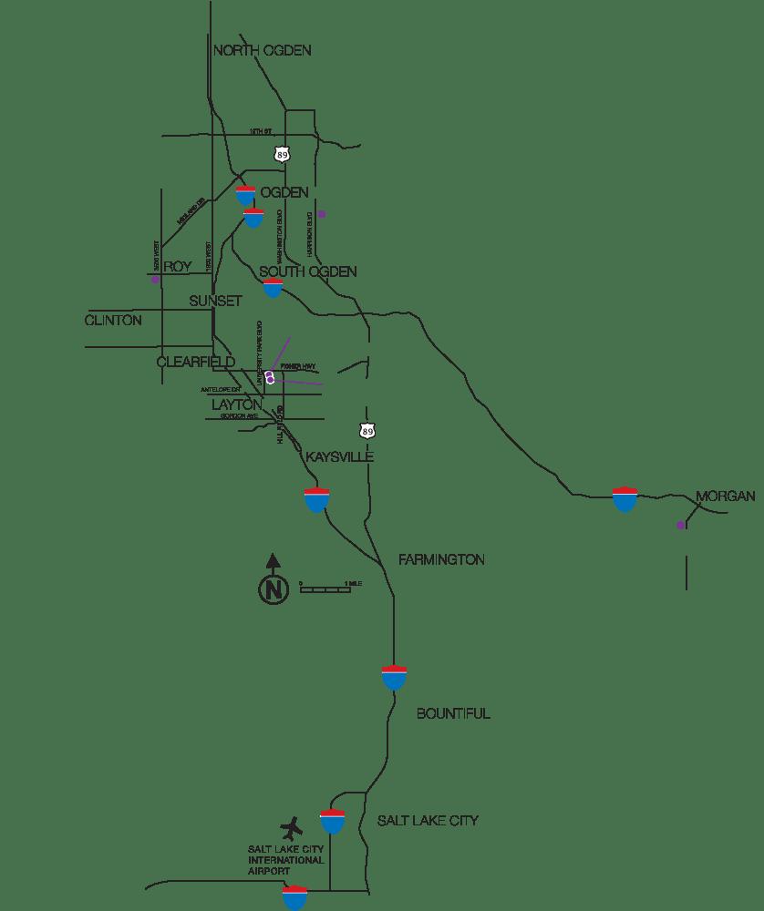 WSU Locations Map