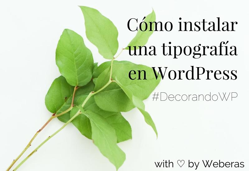 Cómo instalar una tipografía en WordPress