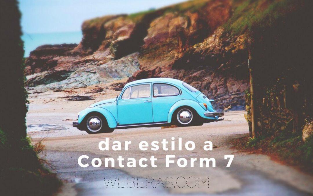 Cómo darle estilo a Contact Form 7 [CSS]