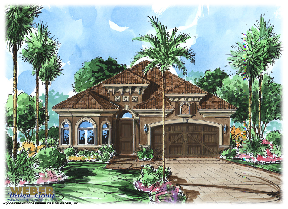 Mediterranean Villa House Plan, Luxury Tuscan Style Floor Plan