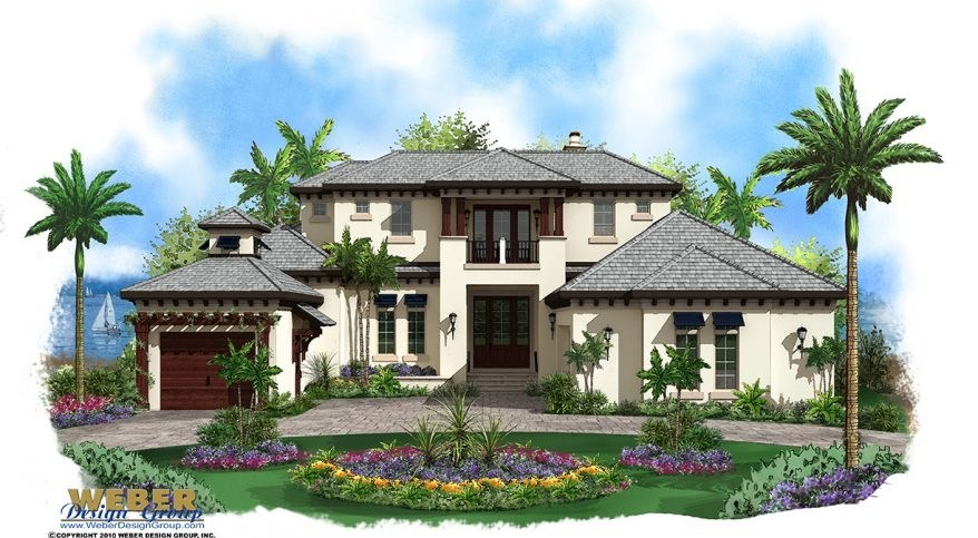 Caribbean House Plan 2 Story Coastal Contemporary Floor Plan | 2 Story House With Stairs Outside | Dark Grey | Traditional | Roof Terrace | Unique | Covered Deck