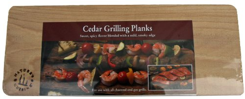 Nature's Cuisine NC004-3 14 by 5-1/2-Inch Cedar Outdoor Grilling Plank, 3-Pack