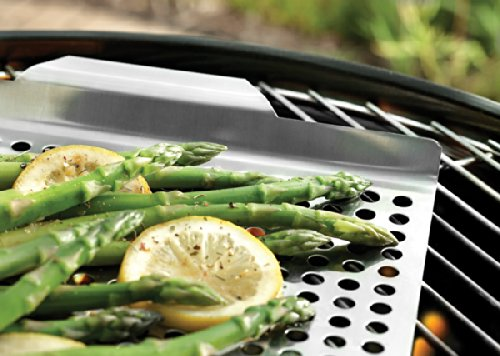 Outset QS71 Stainless Steel Large 17″ x 11″ Grill Grid with Handles