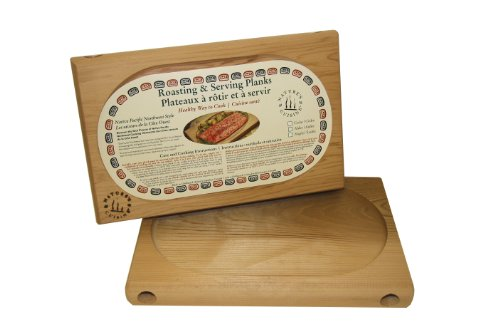 Nature's Cuisine NC002B Cedar Oven Roasting Plank without Wrench, 12 by 7-3/4-Inch