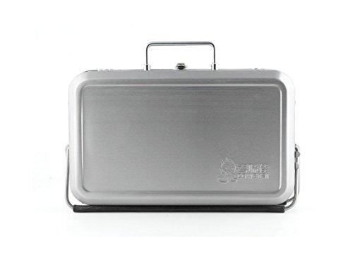 Kikkerland BQ01 Portable BBQ Suitcase, Black