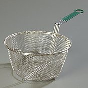 Carlisle 601029 Chrome Plated Nickel Steel Mesh Fryer Basket with Cool Touch Handle, 9-3/4″ Diameter x 4-1/2″ Depth (Case of 12)