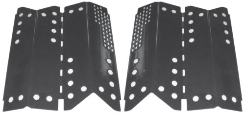 Music City Metals 94332 Porcelain Steel Heat Plate Replacement for Gas Grill Model Stok SGP4330SB, Set of 2