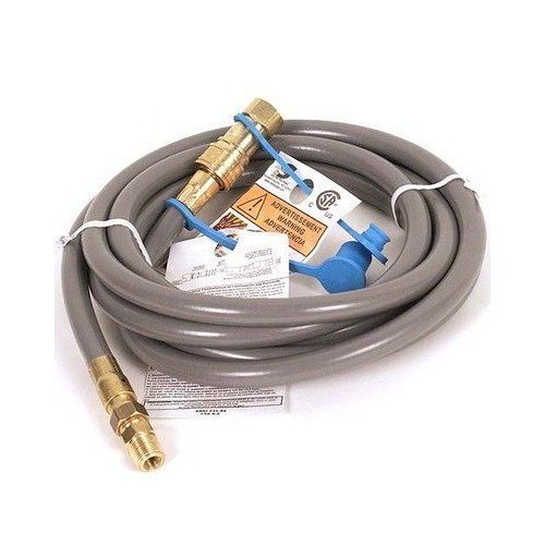 10′ By 3/8″ Id Stripwound Hose Natural Gas Hose Kit with Quick Connect Fitting