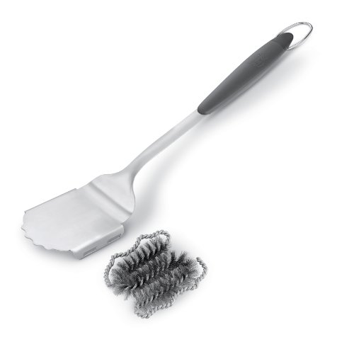 Weber 6708 Style Stainless Steel Grill Brush with Replaceable Head