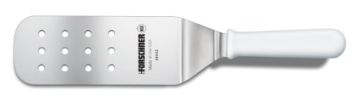Victorinox 3-Inch by 8-Inch Head Perforated Turner, White Poly Handle