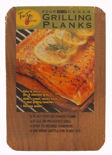 TrueFire Gourmet TFplanks8-4US 4-Pack Cedar Grilling Plank, 5.5 by 8-Inch