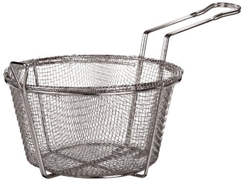 Adcraft BFSM-850 8.5″ Round Nickel Plated Steel Six Mesh Fryer Basket for H3-FP5 Pan