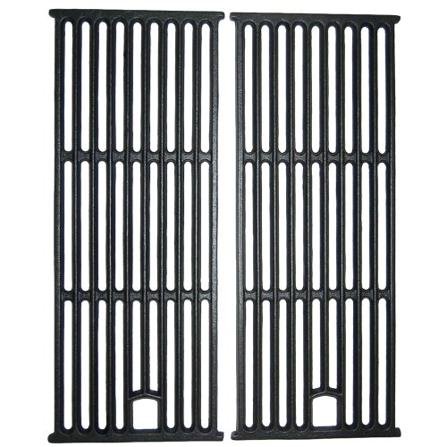 Music City Metals 63182 Matte Cast Iron Cooking Grid Replacement for Gas Grill Models Perfect Flame GSC3318 and Perfect Flame GSC3318N, Set of 2
