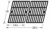Music City Metals 68502 Gloss Cast Iron Cooking Grid Replacement for Select Gas Grill Models by Ducane, Grill Chef and Others, Set of 2