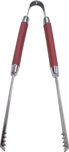 21st Century B62A4 Burgundy Grip Tongs, 16-3/8-Inch
