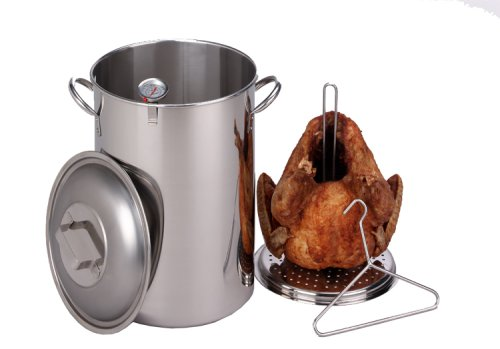 King Kooker SS26PKS 26-Quart Stainless Steel Turkey Pot Package