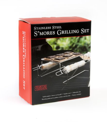 Charcoal Companion Stainless S'mores Roasting Rack with Skewers – CC3112