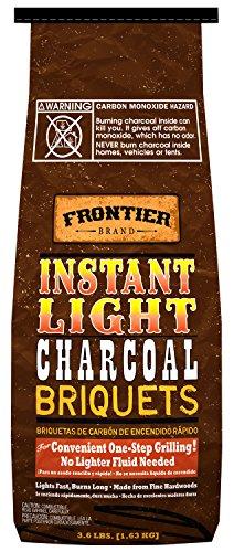 Frontier CBI36 3.6-Pound Instant Light Charcoal Briquets