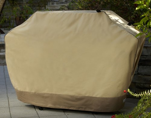 Patio Armor SF40262 60-Inch Premium Medium Wide Grill Cover, Taupe