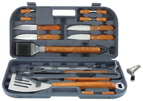 Mr. Bar-B-Q, Inc. 94134X 20-Piece Tool Set with Bonus Light