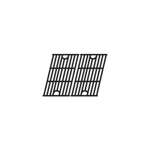 Music City Metals 61312 Matte Cast Iron Cooking Grid Replacement for Gas Grill Model Master Forge SH3118B, Set of 2