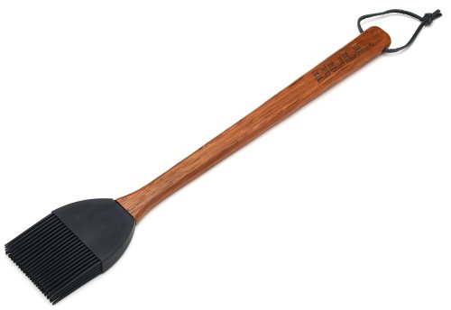 Bull 24130 Rosewood Handle Basting Brush with Silicone Head
