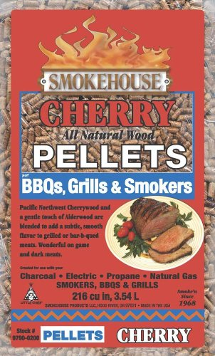 Smokehouse Products 9790-020-0000 5-Pound Bag All Natural Cherry Flavored Wood Pellets, Bulk