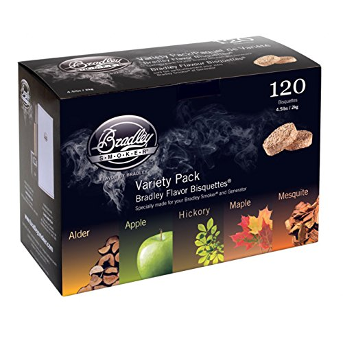 Bradley Smokers BT5FV120 Bisquettes, 5 Flavor Variety, 120-Pack