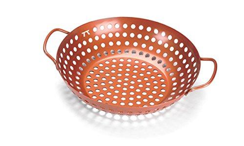 Outset QN70 Round Copper Nonstick Grill Wok