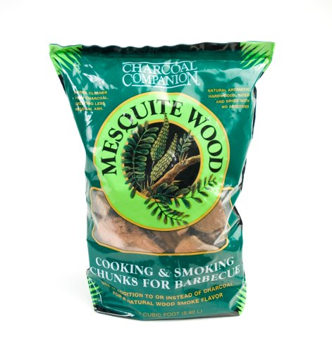 Charcoal Companion Mesquite Cooking and Smoking Wood Chunks, 6-Pound Bag