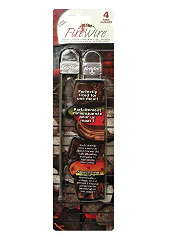 Fire Wire 50457 4-Pack Double Prong Skewer