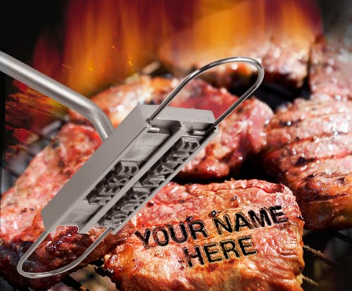 Barbuzzo BBQ Branding Iron with Changeable Letters