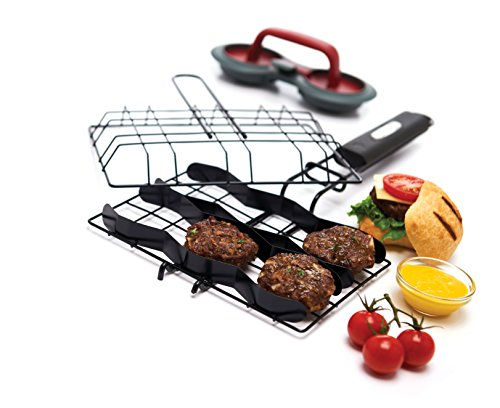 GrillPro 24790 Slider Burger Basket with Burger Press