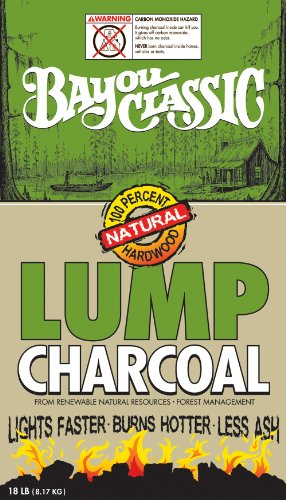 Bayou Classic 18-Pound Bag Natural Lump Charcoal