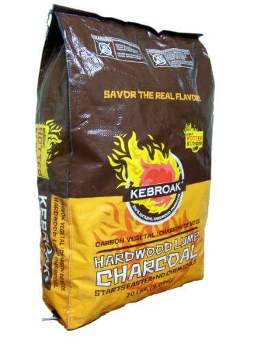 Kebroak KHWC20LB 20-Pound Hardwood Lump Charcoal Bag