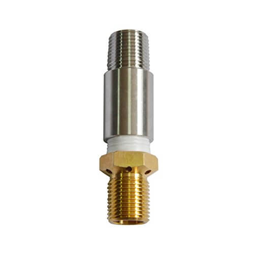 Onlyfire LP 1/2″ Air Mixture Valve for Liquid Propane Fire Pits, High capacity 150K BTU, Stainless Steel, 3.85 Caliber