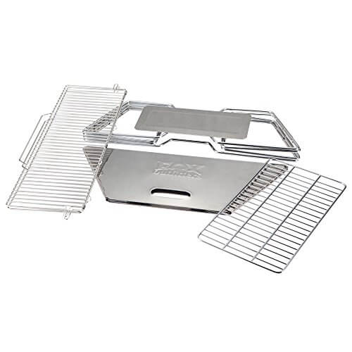 Quick Grill Large: Original Folding Charcoal BBQ Grill Made from Stainless Steel