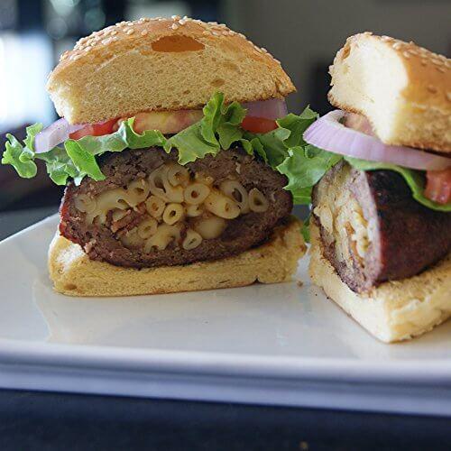 Grillaholics Stuffed Burger Press and Recipe eBook – Lifetime Guarantee – Hamburger Patty Maker for Grilling – BBQ Grill Accessories