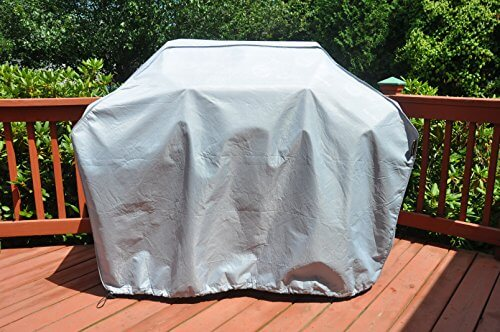 """Hentex Durable 60-Inch Grill Cover, Waterproof, UV Protection, Cold-resistant, Scratch-free Soft interior, advanced functional 3-layered fabric, 3 Year Warranty (60"""")"""