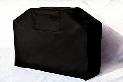 Garden Home Barbeque Grill Cover, Padded Handles, Helpful Air Vents, 58″ L, Black