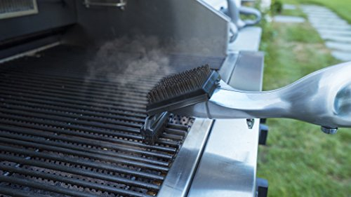 Grill Daddy Grand Grill Brush Platinum Edition – Steam-Clean BBQ without Chemicals – All-Metal Construction Durable – Safe for All Stainless Steel, Iron & Porcelain Barbecue Grates