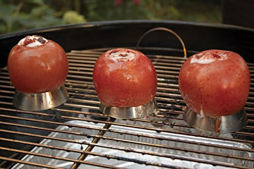 Steven Raichlen Best of Barbecue Stainless Steel Grilling Ring with Spike Set of 3 (3-inch Round)