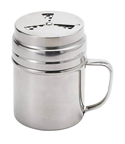 (Ship from USA) Harold Elizabeth Karmel's Stainless Steel Adjustable Holes Dry Rub Shaker, 1-Cup /ITEM NO#E8FH4F85429336
