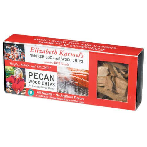 Elizabeth Karmel's 9 by 3.5 by 1.5-Inch Non-Stick Smoker Box with Pecan Wood Chips