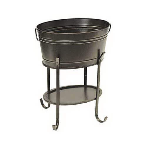 sunjoy industries l-bt153pst Black, Steel, Party Tub