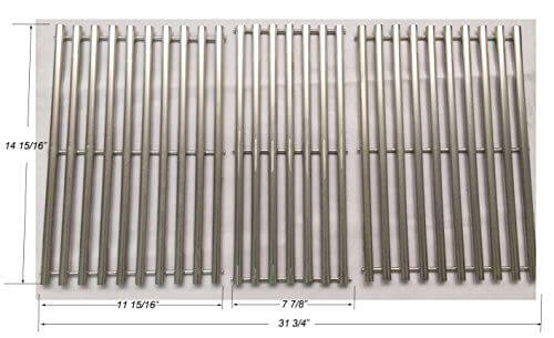GS4653 NEW Stainless steel Cooking Grid for Charbroil, Kenmore and Thermos Grills, Set of 3