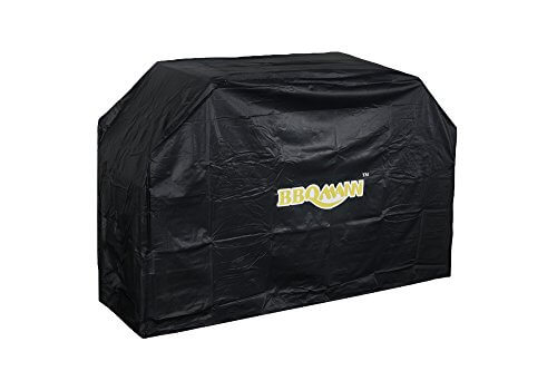 BBQMANN Heavy Duty Premium Smoker Cover, BBQ/Grill Cover, 55-Inch, Waterproof, All Weather Protection