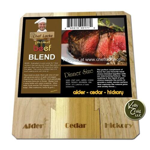 Kelly Craig Chef Locke The Blended Beef Grilling Plank