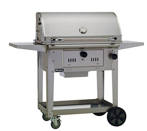 Bull Outdoor Products 67531 Bison Charcoal Stainless Steel Grill with Cart